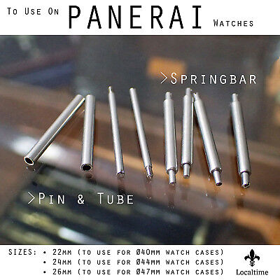 - 2 Pairs Replacement Spring Bars Or Pins & Tubes For Panerai Watches 22-24-26mm