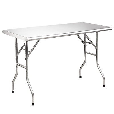 Royal Gourmet Stainless Steel Folding Work Table Kitchen Table 48 L X 24 W