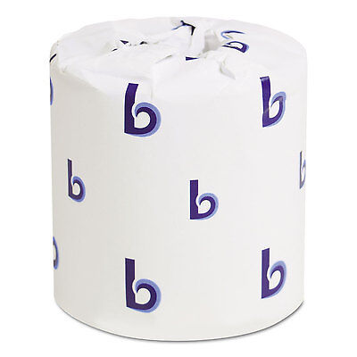 Boardwalk Bathroom Tissue Standard 2-Ply White 4 x 3 Sheet 500 Sheets/Roll 96