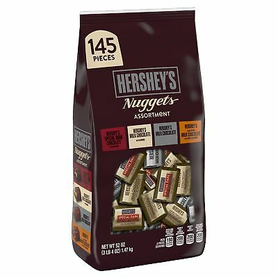 (Hersheys Nuggets 52 oz Chocolate Assortment 145 pieces XL Bulk Candy Bag)
