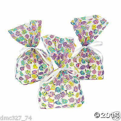 24 Easter Spring Party Favors Goody Loot TREAT Cello BAGS EASTER EGGS](Easter Treat Bags)