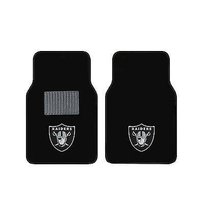 Football Oakland Raiders Carpet Floor Mats Universal Fit Fanmats -
