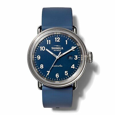 Shinola 43MM Detrola Daily Wear All Blue Quartz Watch S0120161963