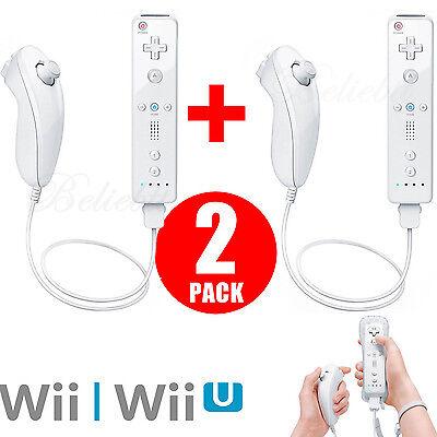 White Remote Controller (White Remote Wiimote Nunchuck Controller Set Combo for Classic Wii Wii U Games )