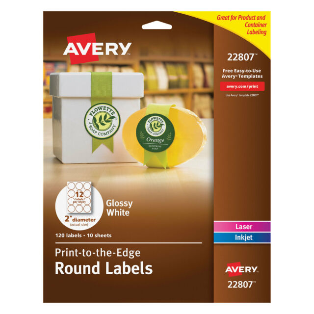 avery easy peel print to the edge label 2 diameter 10 pack