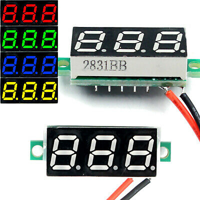 Dc 2.4-30v 2-wire Voltmeter 3-digit Led Display Panel Volt Meter Voltage Tester