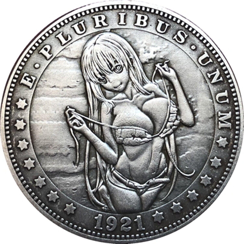 Hobo Nickel  1921-D USA Morgan Dollar Bad Girl COIN