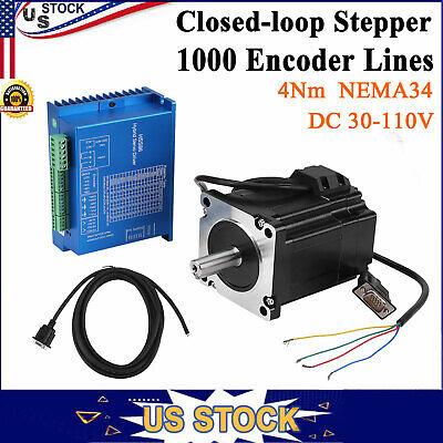 Nema34 Closed Loop Stepper Encoder Motor 4nm Driver Hss86h Hybrid Servo Driver
