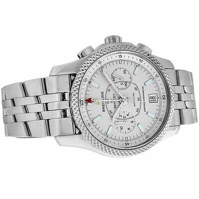 Men's Breitling Bentley Mark VI Special Edition Platinum and Stainless Steel Ref