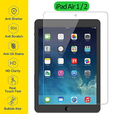 Tempered Glass Film Screen Protector Ultra Thin Clear For Apple iPad Air 1 2 9.7