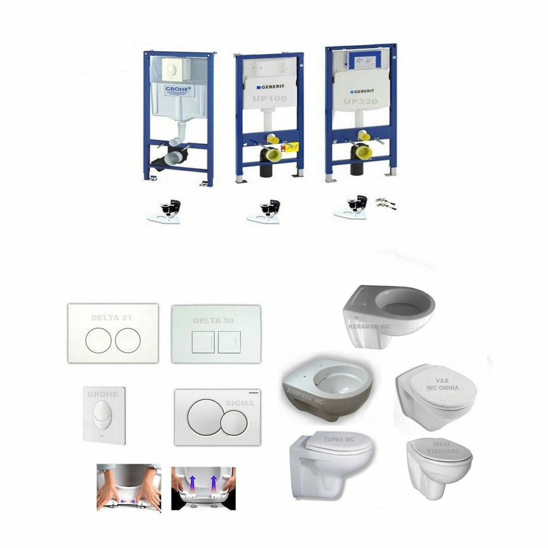 Vorwandelement, Geberit Duofix, Grohe, Keramag, V&B, Design WC, Spülrandlos-Set