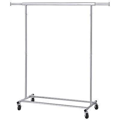 Schwerlast Metall Kleiderständer Garderobenständer bis 90 kg mit Rollen HSR13S - Kleiderständer