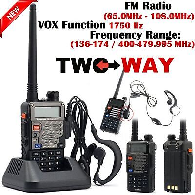 Police Radio Scanner Handheld Digital LED Transceiver Two Way Portable Antenna