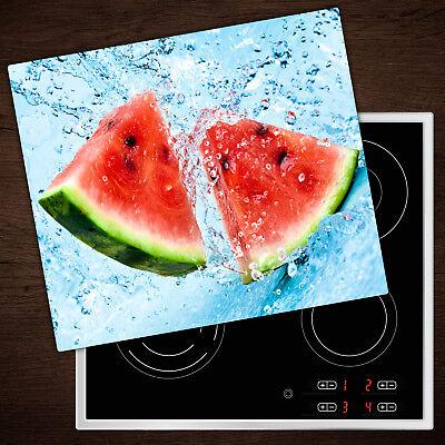 Herdabdeckplatten aus Glas Spritzschutz Wassermelone Wasser - 60x52 cm