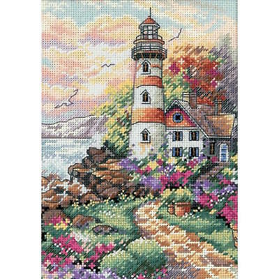 - Dimensions Gold Petite Beacon At Daybreak Counted Cross Stitch Kit
