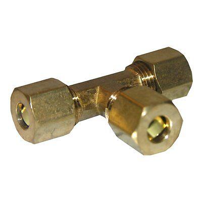Brass Compressor Pneumatic 3 Way Tee 38 Compression Tube Thread Size