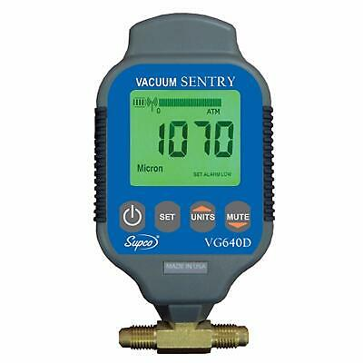 Supco Vg640d Vacuum Gauge Digital 0 To 19000 Microns Dual Port Auto Shut Off
