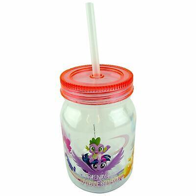 My Little Pony Mason Drinking Jar with Re-Usable Straw - Little Mason Jars