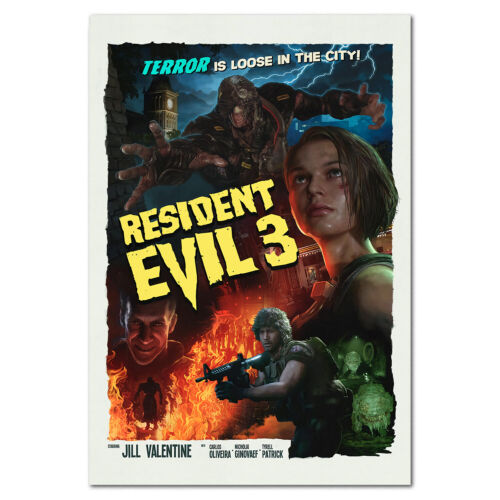 Resident Evil 3 Remake Poster - Movie Style Art - High Quality Prints