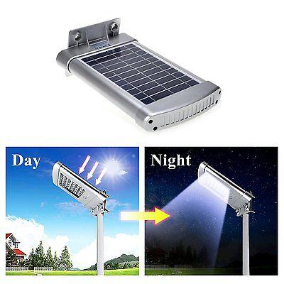 Solar Street Light Outdoor Waterproof Motion Sensor Wall Night Lighting 24 Leds