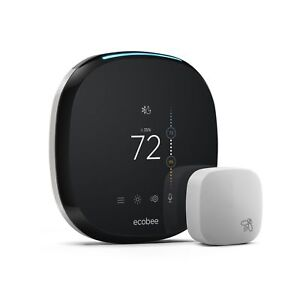 Ecobee - Ecobee4 Wi-fi Thermostat With Room Sensor Eb-state4-01