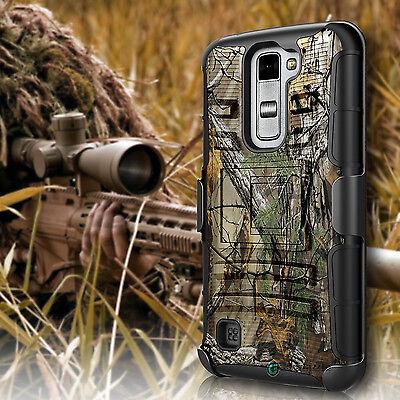 Shockproof Hybrid Camo Armor Kickstand Holster Belt Clip Case Cover For Phone