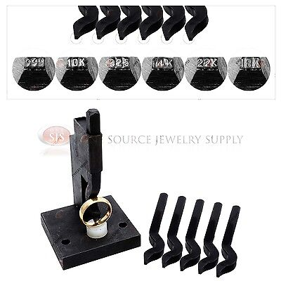 - Jewelry Ring Stamp Machine 6 Stamps 10K, 14K, 18K, 22K, 925, 999 Gold Silver