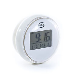 Shower Clock Water Resistant Backlit Suction Cup by Cirbic