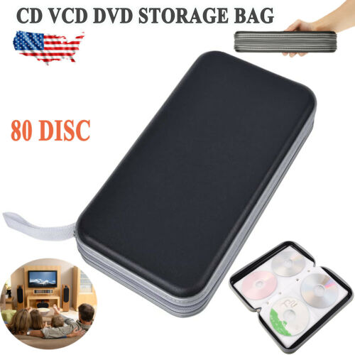 80 Disc Plastic CD DVD VCD Carry Case Holder Storage Organizer Bag Album Wallet