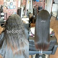 $150  for any hair straightening