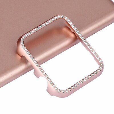 - Crystal Bling Rhinestone Case Diamond Protective Cover Snap on Frame Apple Watch
