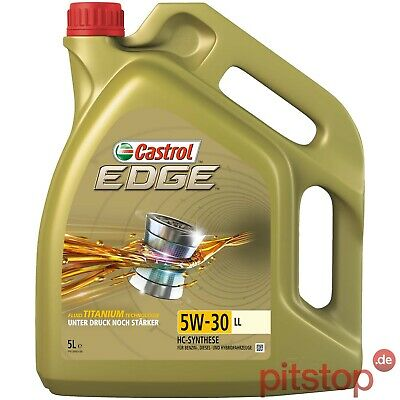 5L CASTROL EDGE 5W-30 LL FLUID TITANIUM MOTORÖL VW 50400 50700 MB 229.31 229.51