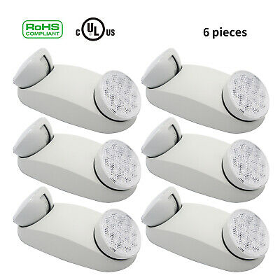 Led Ultra Bright Emergency Exit Light Adjustable Standard Round Head Indoorlamp
