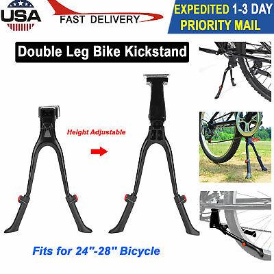 "ETC Bicycle Cycle Bike Big Foot Adjustable  24-26/"" Steel Side Prop Stand Silver"