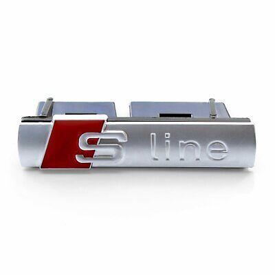 Audi S LINE Front Hood Grill Badge Emblem for A3 A4 A5 A6 A7 Q3 Q5 Q7
