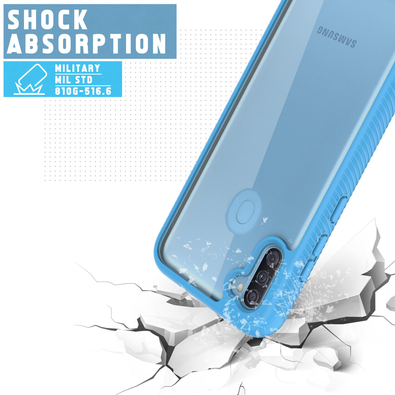 For Samsung Galaxy A11 A12 A21 Hybrid Case Cover With Built-in Screen Protector Cases, Covers & Skins