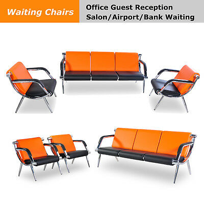 Option Office Reception Chair Pu Leather Waiting Room Bench Visitor Sofa Airport
