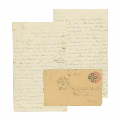 1863 Civil War Letter by 10th Connecticut Officer - Attack on Fort McAllister