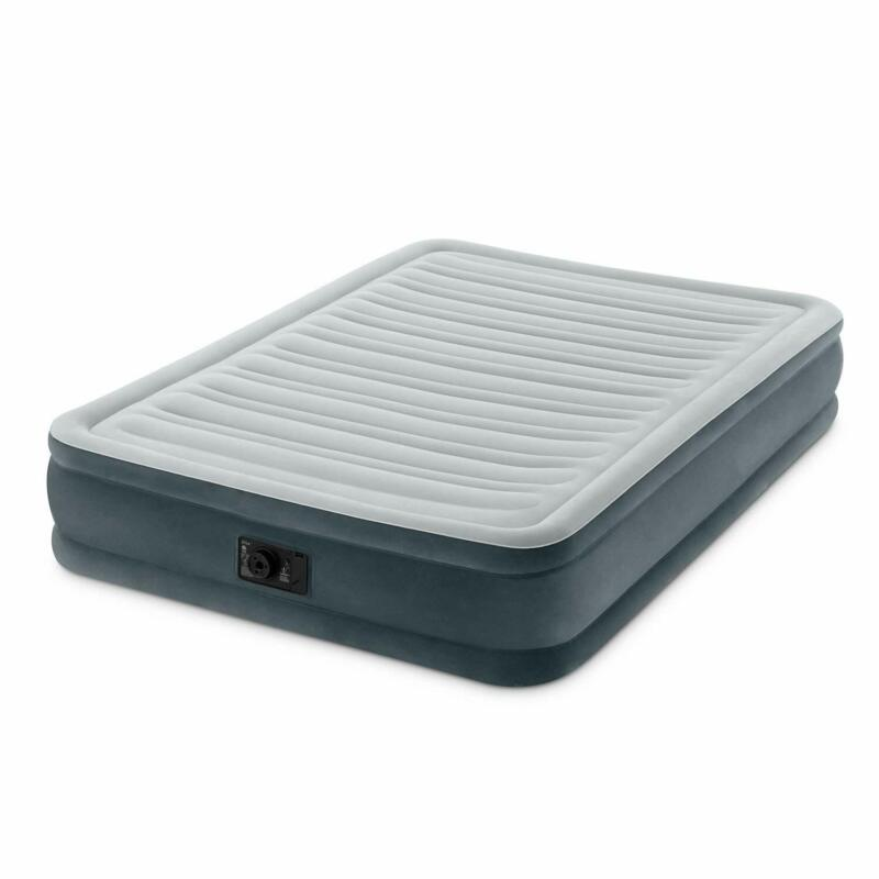 """Inflatable Air Bed Mattress Cushion Mid Rise 13"""" With Builti"""