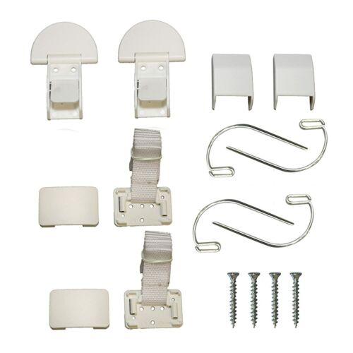 QDOS Zero-Screw Furniture Anti-Tip Kit | 1 Kit - 2 pcs | White