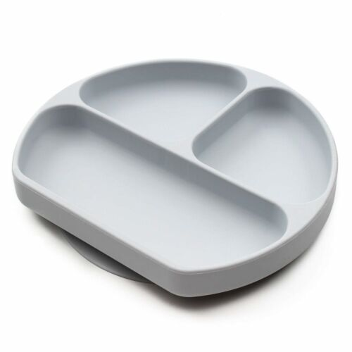 Silicone Grip Dish Suction Plate Divided Baby Toddler BPA Free