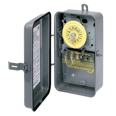 Intermatic Timer, 125V SPST 24Hour Rain Tight Mechanical Tim