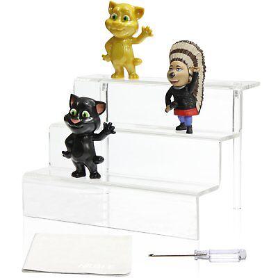 Niubee Acrylic Riser Stand Shelf For Amiibo Funko Pop Figure Display 3 Steps
