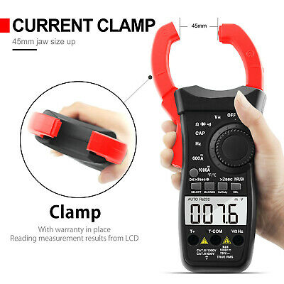 Clamp Meter Multimeter Dmm 1000a Rms Ac Dc Current 60m Resistance Ohm Tester