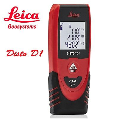 Genuine Leica Disto D1 130ft40mtr Laser Distance Measure With Bluetooth 4.0
