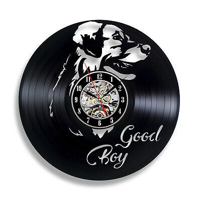 Labrador the Best Dog Ever Decor House Art Pet Puppy Animal Wall Vinyl Clock