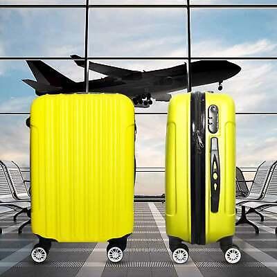 Trolley Rigido Da Viaggio Bagaglio a Mano Giallo Voli Ryanair EasyJet 55x35x23cm