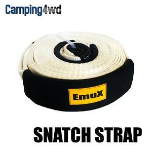 EmuX Snatch Strap 11000kg Reinforced Recovery 11t 4WD $65