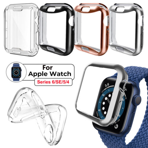 For Apple Watch Series 6/SE/5/4 40 44mm Soft Case Full Screen Cover Protector US