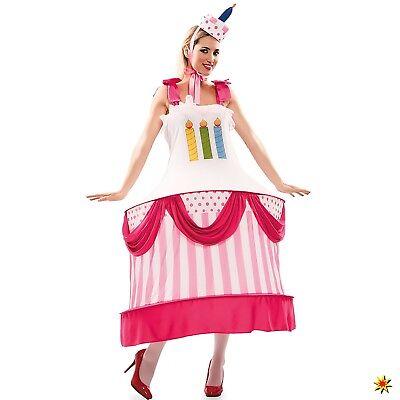 Kostüm Geburtstagskuchen Gr. 38-42 Kleid Törtchen Kuchen Karneval - Geburtstag Kuchen Kostüm